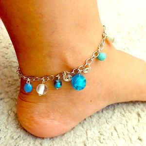 Ankles Napal Lamwork Glass Beads.